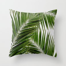 Palm Leaf III Throw Pillow