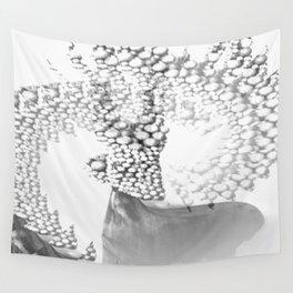 Mystical Grey Roe Deer Wall Tapestry