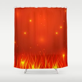 Flames from the fire and spark. Shower Curtain