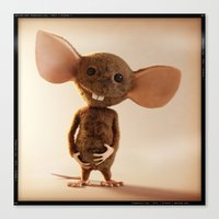 rat Canvas Prints featuring Rat by timecore