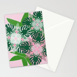 Palm Flowers Stationery Cards