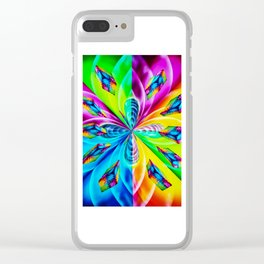 Abstract Perfection Clear iPhone Case