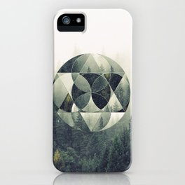 Geometric Forest iPhone Case