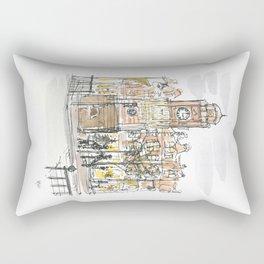 crouch end clock tower Rectangular Pillow