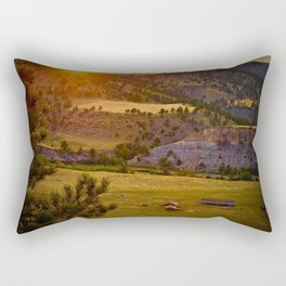 Sunset on the Black Hills Rectangular Pillow