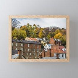 Harpers Ferry in Autumn Framed Mini Art Print