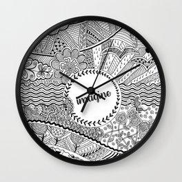 Imagine (monochrome) Wall Clock