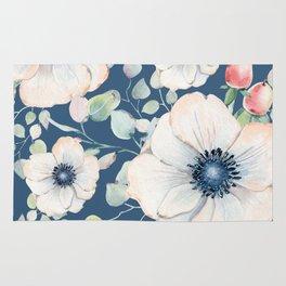 Summer Flowers Blue #society6 #buyart Rug