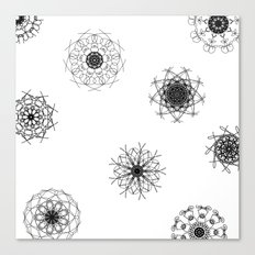 mandalas in the air Canvas Print
