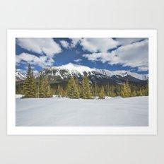 Canadian Rockies Winter Wonderland Art Print