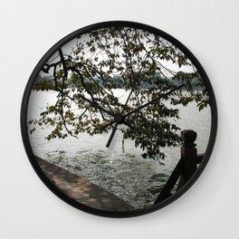 Tree by the Lake, Hanoi, Vietnam Wall Clock