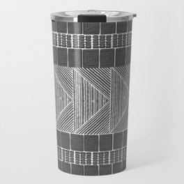 Black and White Line Art Travel Mug