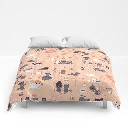 Bad cats Comforters