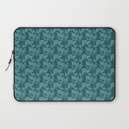 Abstract Geometrical Triangle Patterns 2 Benjamin Moore 2019 Trending Color Beau Green 2054-20 Laptop Sleeve