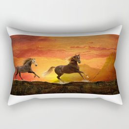 Fire Sky Rectangular Pillow