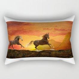 Fire Sky Rectangular Pillow