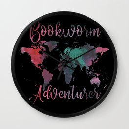 Bookworm Adventurer Wall Clock