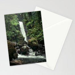 Lush Jungle Waterfall Looks Like Jurassic Park Stationery Cards