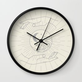Life within your Hands Wall Clock