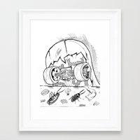 """skate Framed Art Prints featuring """"Skate"""" by Jorge Daszkal"""