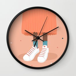 Skirt and shoes combo Wall Clock