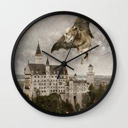 Indie Dog in Flight Wall Clock