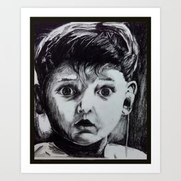 Ecstatic Kid Art Print
