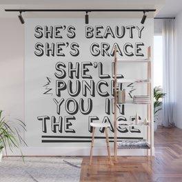 She's Beauty & She's Grace Wall Mural