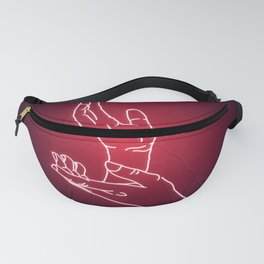 Red Neon Meanwhile Fanny Pack