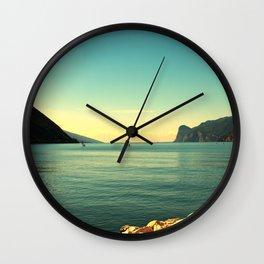 windsurfers in Italy Wall Clock