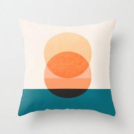 Abstraction_NEW_SUNSET_OCEAN_WAVE_POP_ART_Minimalism_0022D Throw Pillow