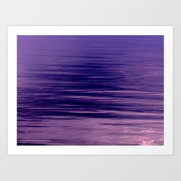 Movement of Water on a Calm Evening- Violet Abstraction Art Print