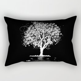 Tree with flowers in spring Rectangular Pillow