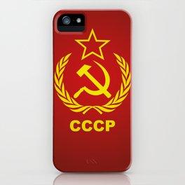 CCCP Cold War Flag iPhone Case