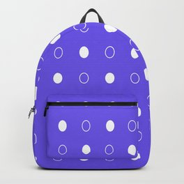 Dots pattern - blue and white. Backpack