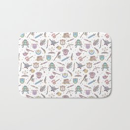 Cute Dungeons and Dragons Pattern Bath Mat