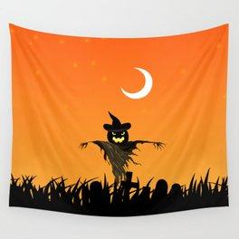 Nightmare Halloween Starry Night Wall Tapestry