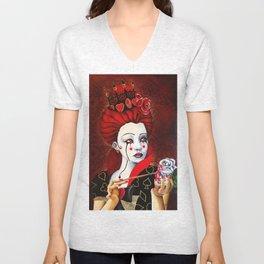 Reina de Corazones Unisex V-Neck