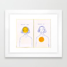 Sometimes Here, Sometimes Not Framed Art Print