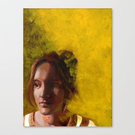 Megan, Fine Art Oil Painting Portrait Print Canvas Print