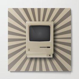 Retro Mac Metal Print