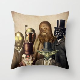 Victorian Wars (square format) Throw Pillow