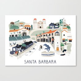 The best of Santa Barbara Canvas Print