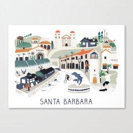 The best of Santa Barbara Canvas Print