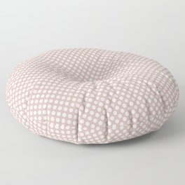 Rose Smoke and White Polka Dots Floor Pillow