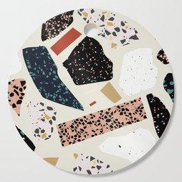 Modern Terrazzo Collage 01 Cutting Board