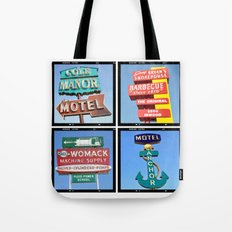 Vintage Signs Composite Series of 4 Tote Bag