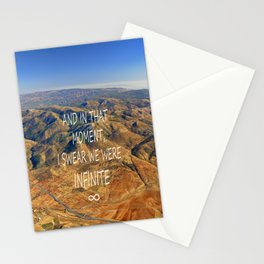 And in that moment, I swear we were infinite ∞. Aerial photo Stationery Cards