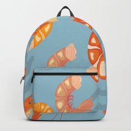 Prawn Seamless Pattern Vector Backpack