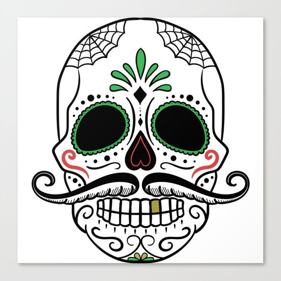 Day Dead Sugar Skull Canvas Print